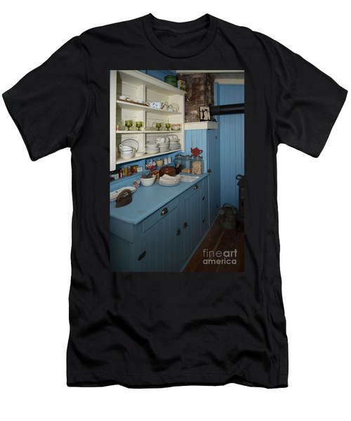 Heritage Cottage Museum On Bowen Island Men's T-Shirt (Slim Fit) by Carol Ailles