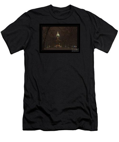 Notre Dame Golden Dome Snow Poster Men's T-Shirt (Athletic Fit)