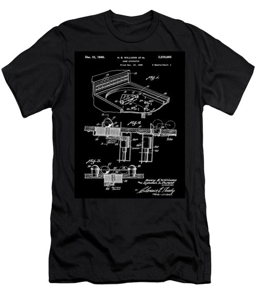 Pinball Machine Patent 1939 - Black Men's T-Shirt (Athletic Fit)