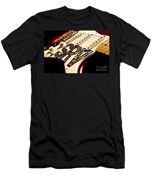 Replica Stevie Ray Vaughn Electric Guitar Artistic Men's T-Shirt (Slim Fit) by Jani Bryson