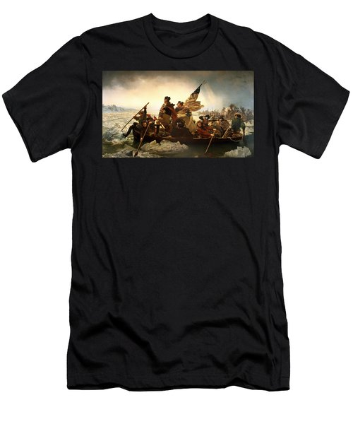 Washington Crossing The Delaware Men's T-Shirt (Slim Fit) by Emanuel Leutze