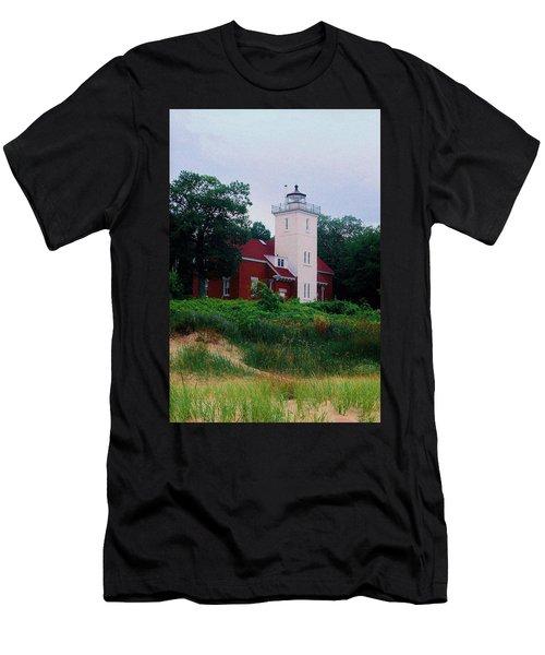 Men's T-Shirt (Slim Fit) featuring the photograph 40 Mile Light by Daniel Thompson