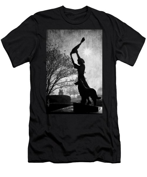 44 Years Of Waving - Black And White Men's T-Shirt (Athletic Fit)