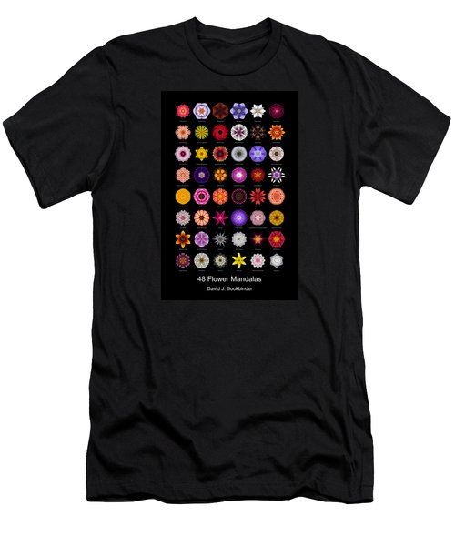 48 Flower Mandalas Men's T-Shirt (Athletic Fit)