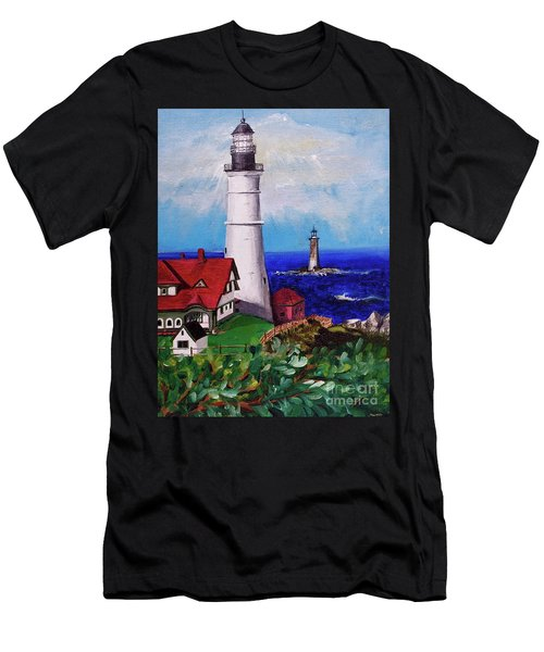 Lighthouse Hill Men's T-Shirt (Athletic Fit)