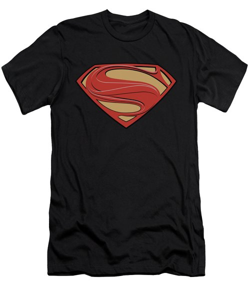 Man Of Steel - New Solid Shield Men's T-Shirt (Athletic Fit)