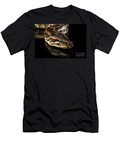 Snake Men's T-Shirt (Slim Fit) by Gunnar Orn Arnason