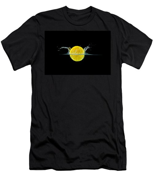 Splashing Lemon Men's T-Shirt (Athletic Fit)