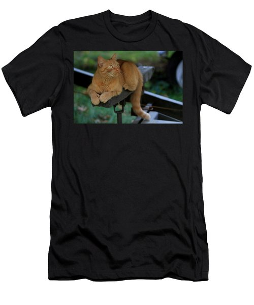 5-toe'd Orange Cat Of The Marina Men's T-Shirt (Athletic Fit)