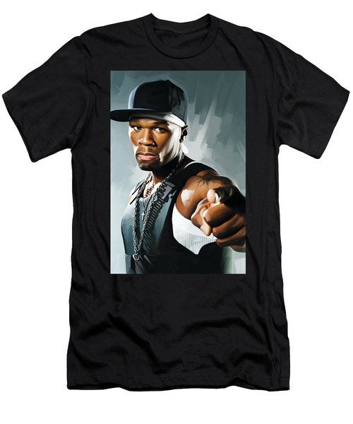 50 Cent Artwork 2 Men's T-Shirt (Slim Fit)