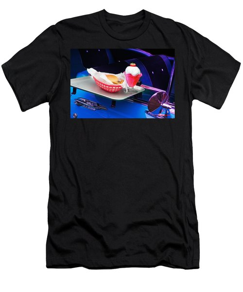 Men's T-Shirt (Athletic Fit) featuring the photograph 57 Chevy At A Drive-in by Gunter Nezhoda