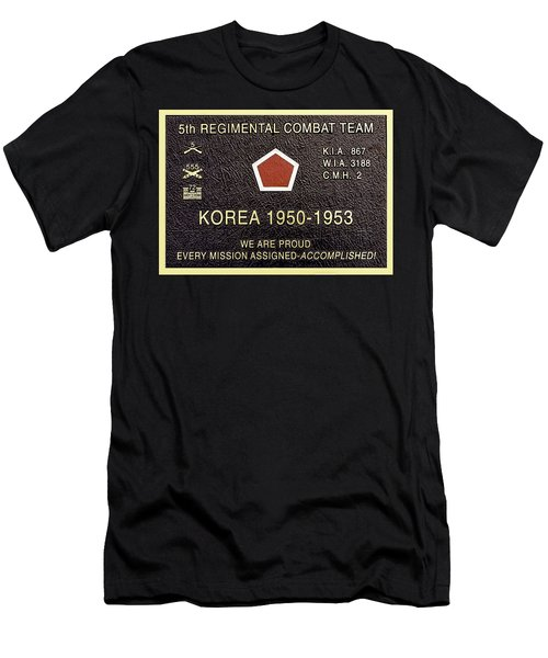5th Regimental Combat Team Arlington Cemetary Memorial Men's T-Shirt (Slim Fit) by Bob and Nadine Johnston