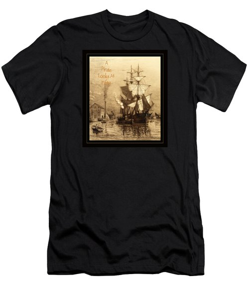A Pirate Looks At Fifty Men's T-Shirt (Slim Fit)