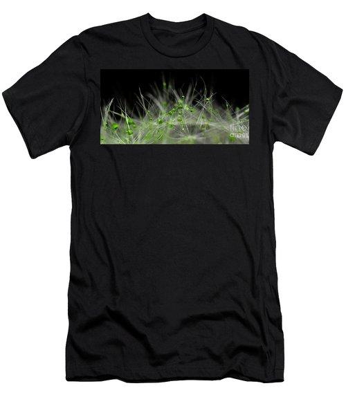 Crystal Flower Men's T-Shirt (Slim Fit) by Sylvie Leandre