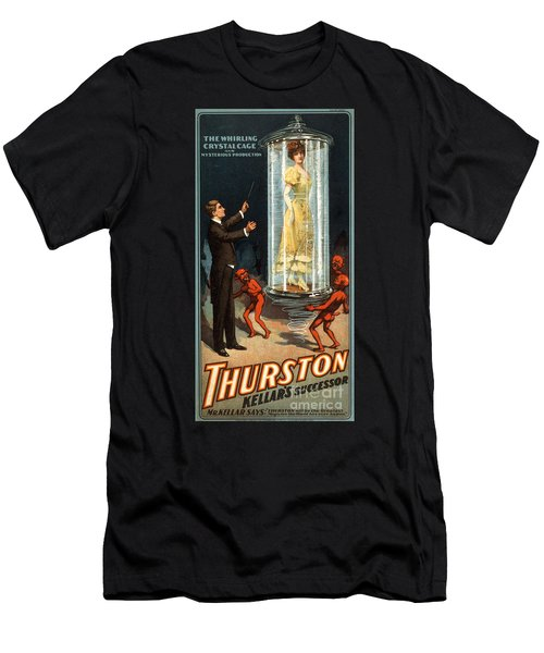 Howard Thurston, American Magician Men's T-Shirt (Athletic Fit)