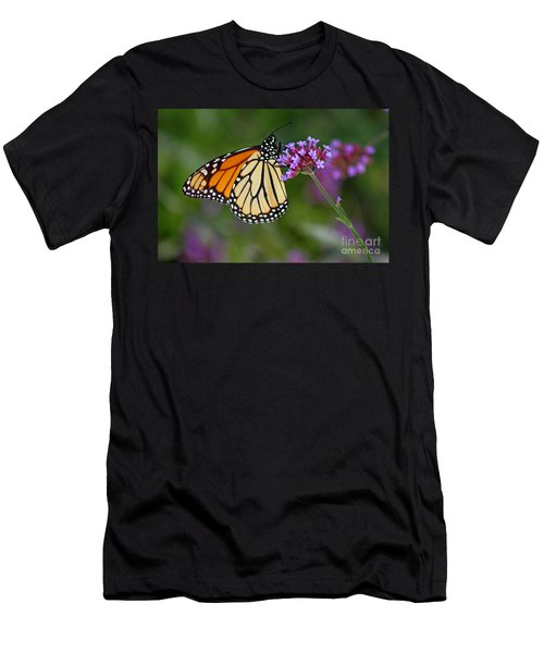 Monarch Butterfly In Garden Men's T-Shirt (Athletic Fit)