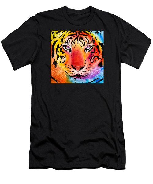 Men's T-Shirt (Athletic Fit) featuring the painting Tiger by Dede Koll