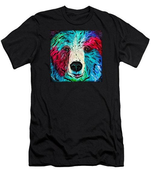 Men's T-Shirt (Athletic Fit) featuring the painting Bear by Dede Koll
