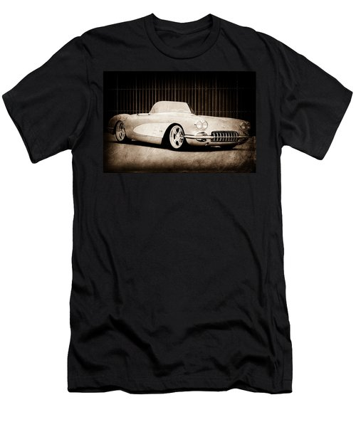 Men's T-Shirt (Athletic Fit) featuring the photograph 1960 Chevrolet Corvette by Jill Reger