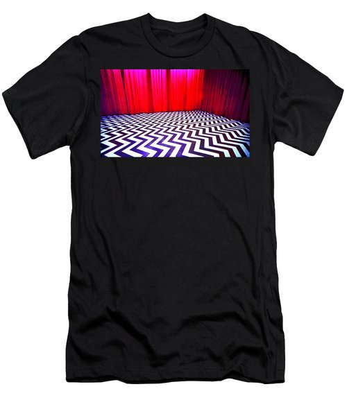 Men's T-Shirt (Slim Fit) featuring the painting Black Lodge by Luis Ludzska