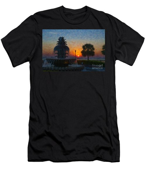 Pineapple Fountain At Dawn Men's T-Shirt (Athletic Fit)