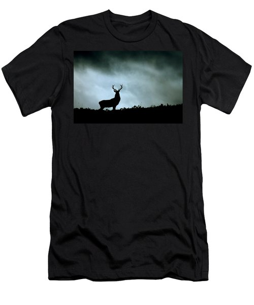 Stag Silhouette Men's T-Shirt (Athletic Fit)