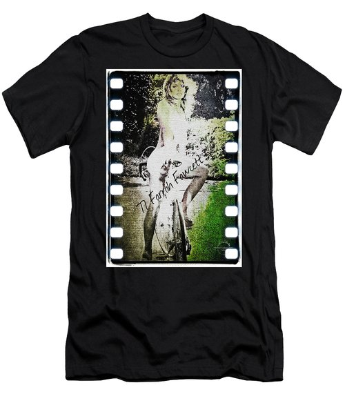 '77 Farrah Fawcett Men's T-Shirt (Slim Fit) by Absinthe Art By Michelle LeAnn Scott