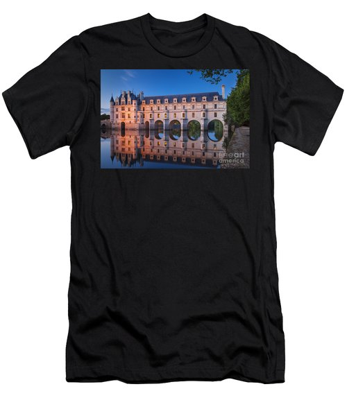 Men's T-Shirt (Athletic Fit) featuring the photograph Chateau Chenonceau by Brian Jannsen