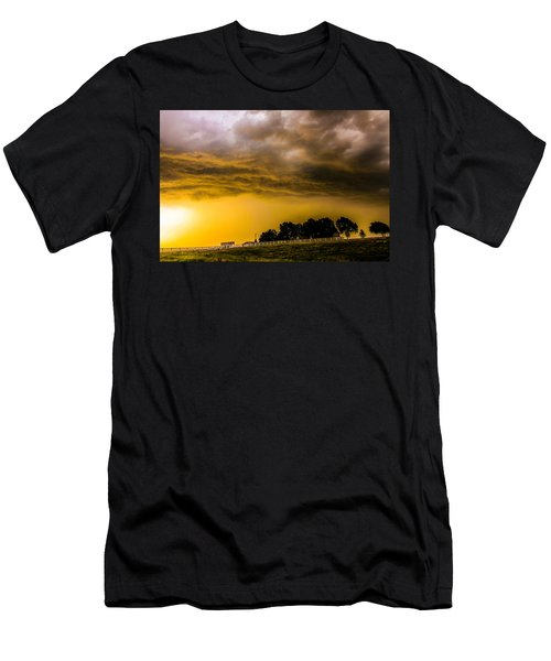 Late Afternoon Nebraska Thunderstorms Men's T-Shirt (Athletic Fit)