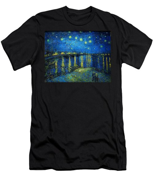 Starry Night Over The Rhone Men's T-Shirt (Slim Fit) by Vincent van Gogh