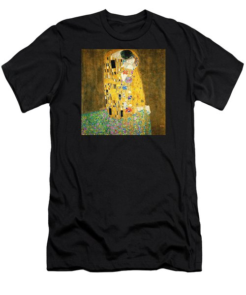 The Kiss Men's T-Shirt (Slim Fit) by Gustav Klimt