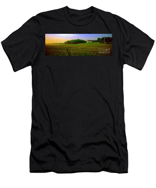 Conley Rd Spring Pasture Oaks And Barn  Men's T-Shirt (Athletic Fit)
