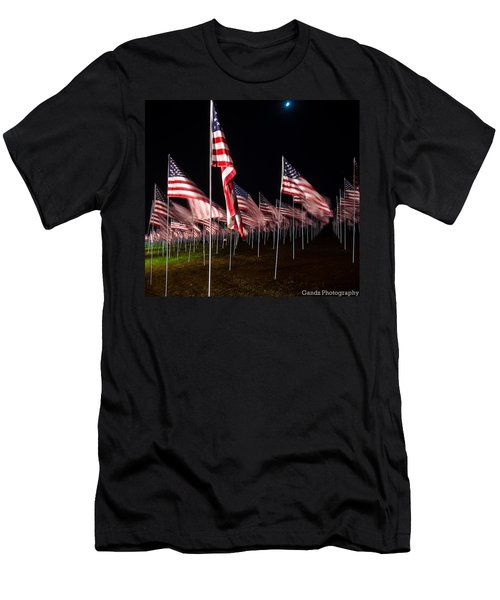 9-11 Flags Men's T-Shirt (Athletic Fit)