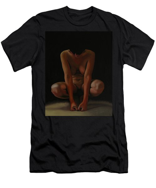 Men's T-Shirt (Slim Fit) featuring the painting 9 Am by Thu Nguyen
