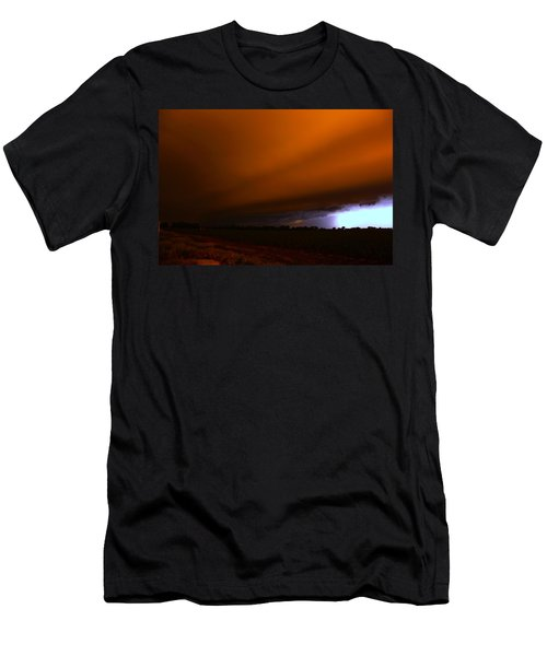 Late Night Nebraska Shelf Cloud Men's T-Shirt (Athletic Fit)