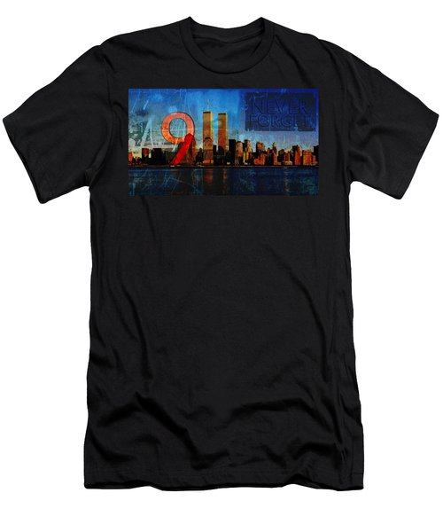 911 Never Forget Men's T-Shirt (Athletic Fit)