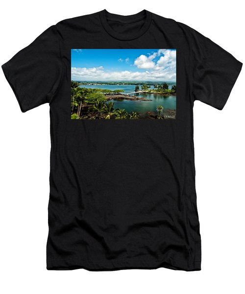 A Beautiful Day Over Hilo Bay Men's T-Shirt (Slim Fit) by Christopher Holmes