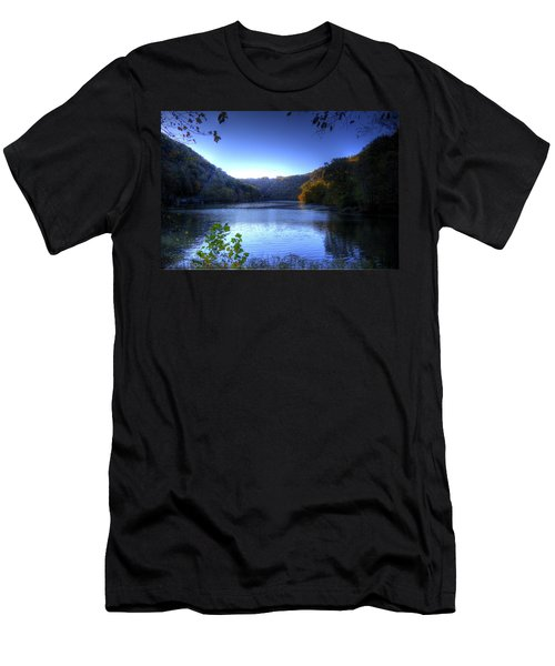 A Blue Lake In The Woods Men's T-Shirt (Athletic Fit)