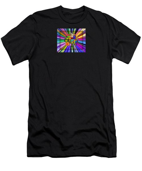 A Burst Of Flowers Men's T-Shirt (Athletic Fit)