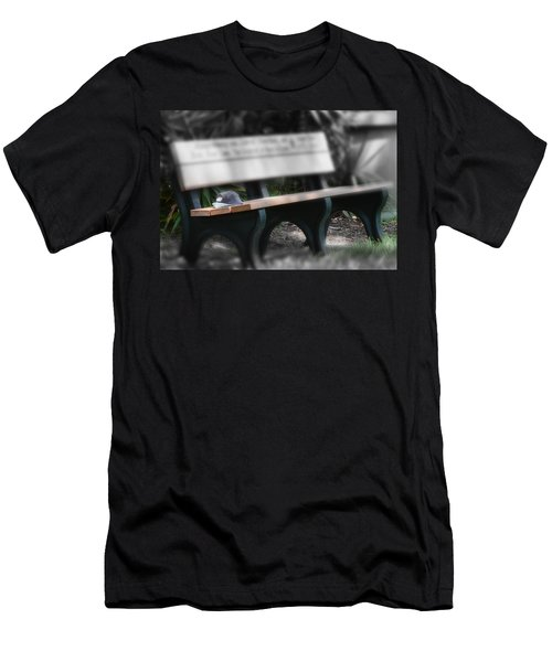 Men's T-Shirt (Slim Fit) featuring the photograph A Child Somewhere In My Dreams by DigiArt Diaries by Vicky B Fuller