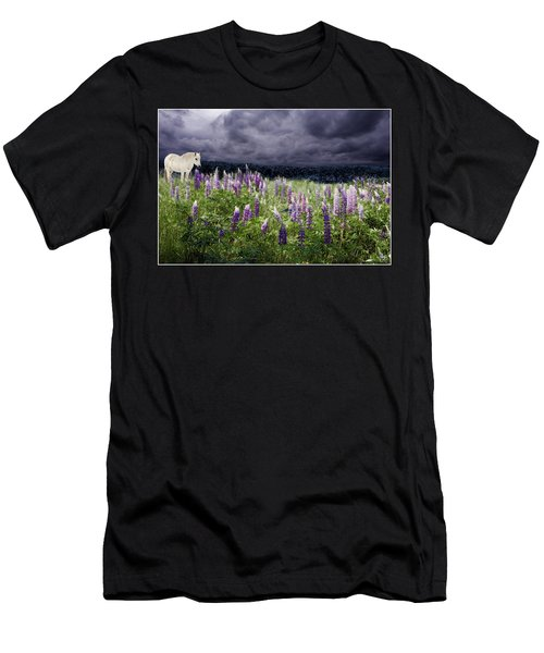 Men's T-Shirt (Athletic Fit) featuring the photograph A Childs Dream Among Lupine by Wayne King
