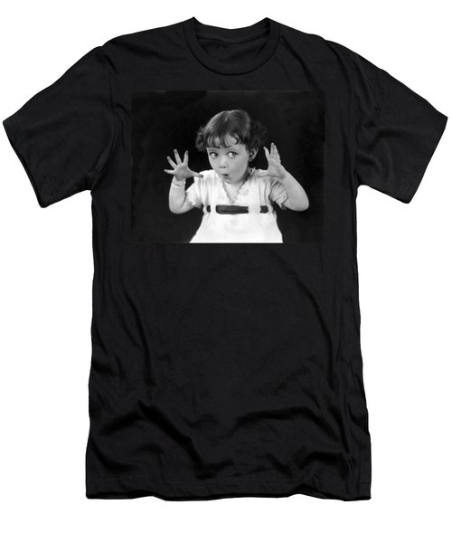 A Child's Scary Look Men's T-Shirt (Athletic Fit)