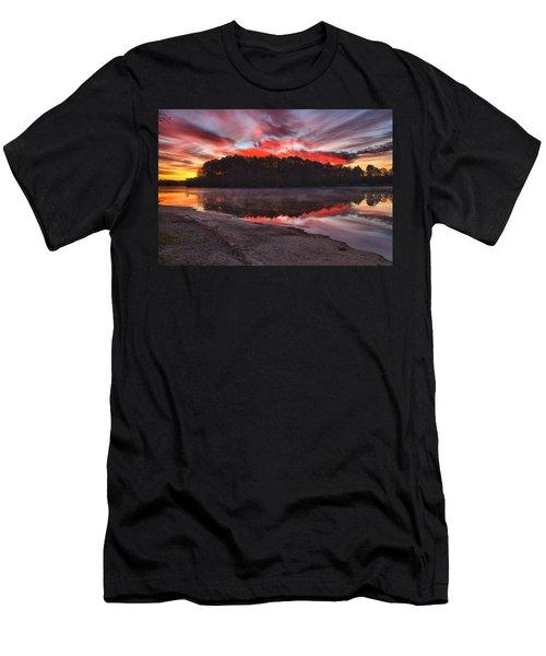 A Christmas Eve Sunrise Men's T-Shirt (Slim Fit) by Gordon Elwell