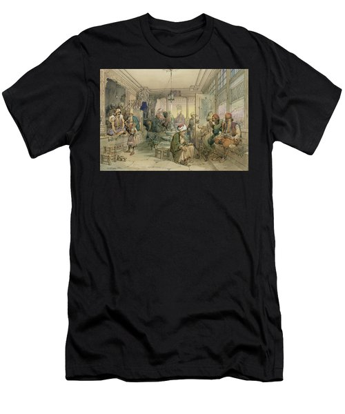 A Coffee House, Constantinople, 1854 Men's T-Shirt (Athletic Fit)