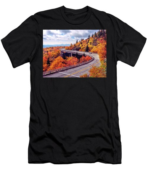 A Colorful Ride Along The Blue Ridge Parkway Men's T-Shirt (Athletic Fit)