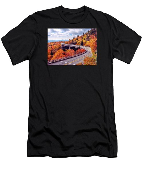 A Colorful Ride Along The Blue Ridge Parkway Men's T-Shirt (Athletic Fit)