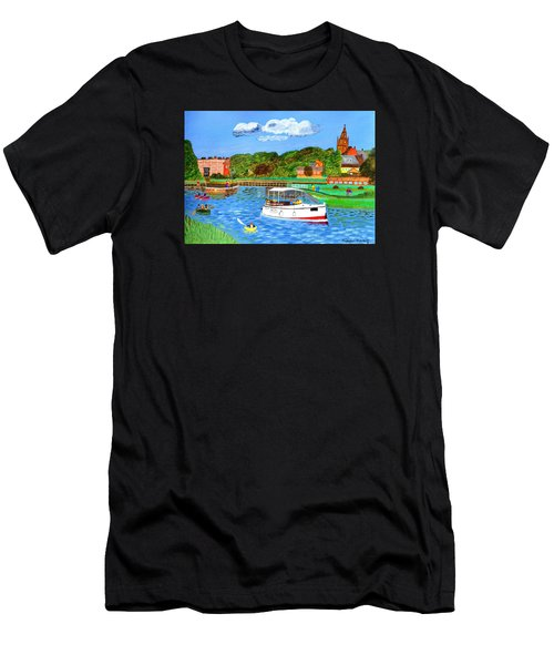 A Day On The River In Exeter Men's T-Shirt (Athletic Fit)