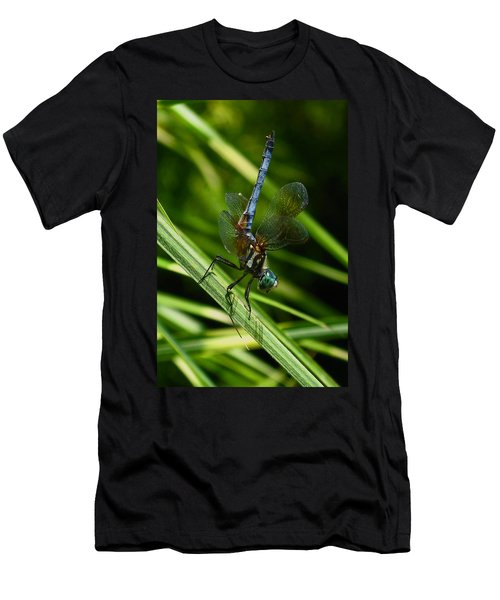 Men's T-Shirt (Slim Fit) featuring the photograph A Dragonfly by Raymond Salani III