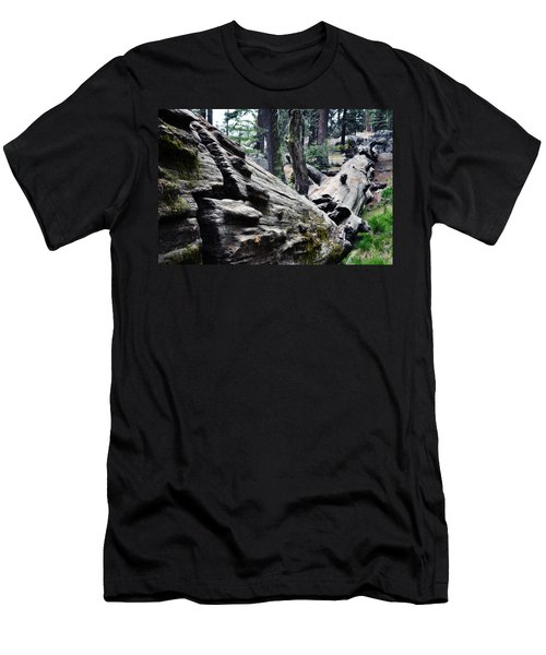 Men's T-Shirt (Slim Fit) featuring the photograph A Fallen Giant Sequoia by Kyle Hanson