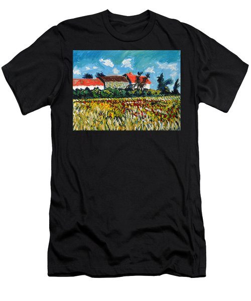 A Field In France Men's T-Shirt (Athletic Fit)